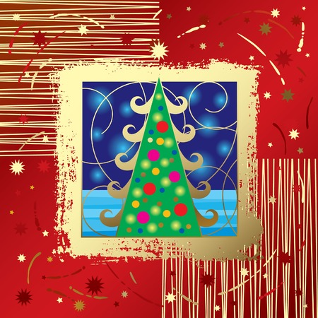Vector Christmas & New Year's card Stock Vector - 4990563