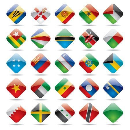 Vector set world flag icons 5 Vector