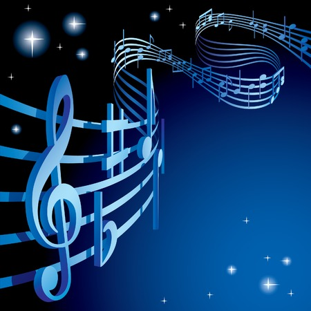 famous star: Vector background on a musical theme