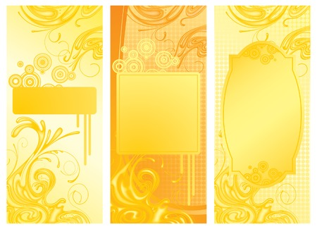 gush: Three vector yellow backgrounds