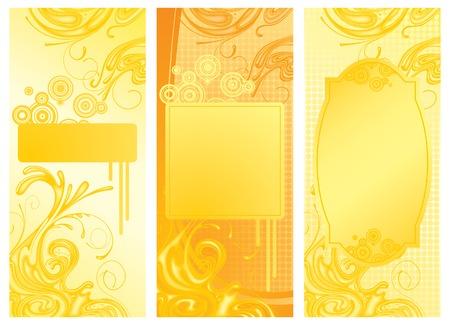 torrent: Three vector yellow backgrounds