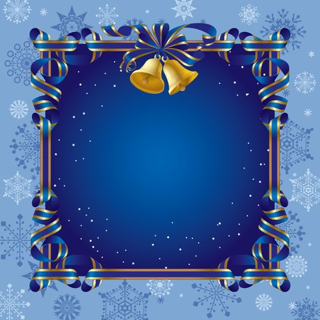 Vector Christmas background with a bell Stock Vector - 4990584