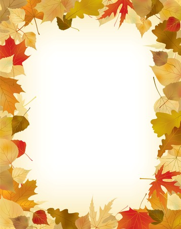 autumn leaf frame: Vector foliage frame