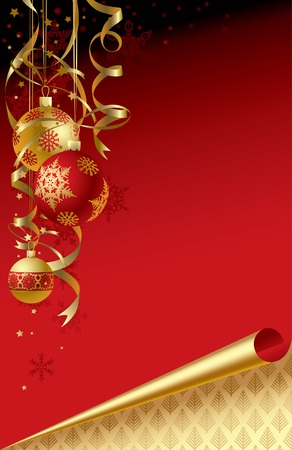 newyears: Vector Christmas & New-Years greeting card