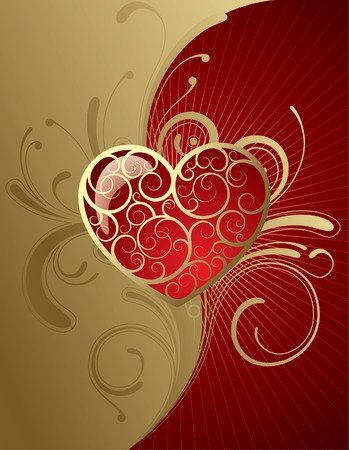 Vector background with a heart Vector