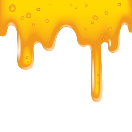 honey liquid: Vector image of a yellow viscous liquid