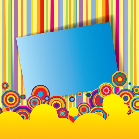 exhilarated: Vector multicolored abstract banner