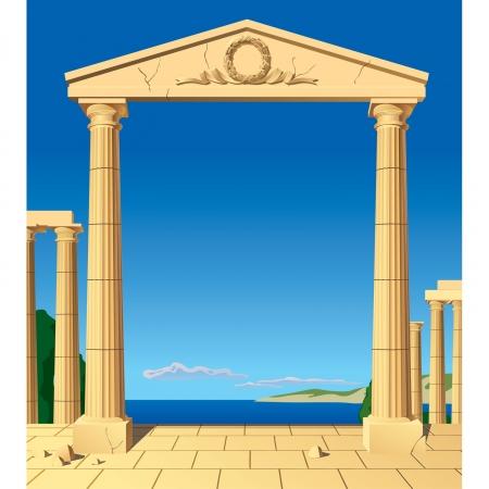 antigua grecia: Vector de imagen de entrada antic clásica