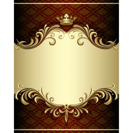 royal frame: Vector image of gold banner in Baroque Style