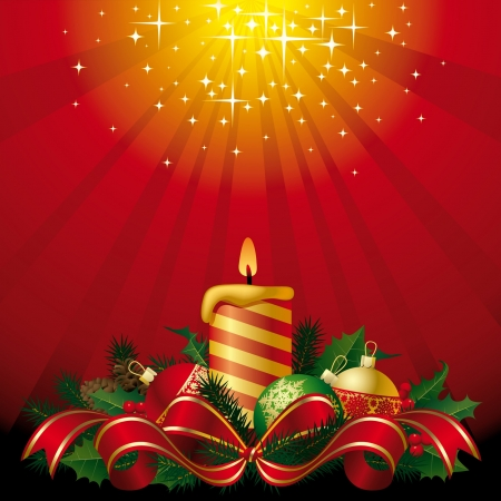 Vector greeting card with a candle Stock Vector - 16415547