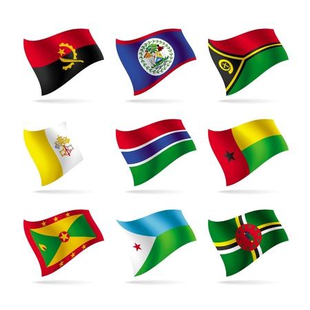 banderas del mundo: Vector conjunto de banderas del mundo 11