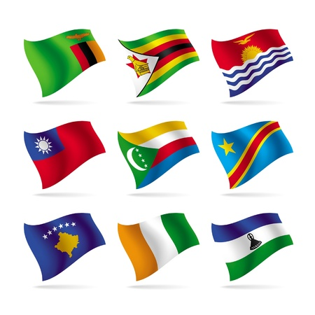 Vector set of world flags 12