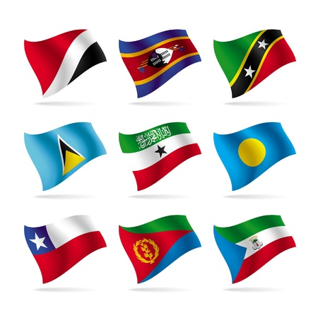 Vector set of world flags 14