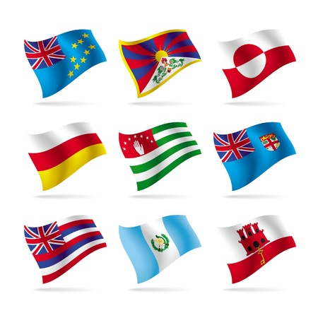 Vector set of world flags 15