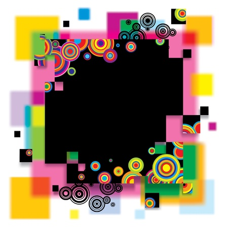 exhilarated: Vector image of a multicolored abstract banner