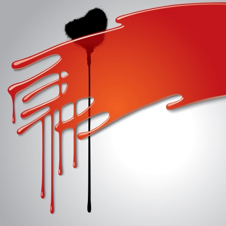 Vector image of a transparent red blot on a white background