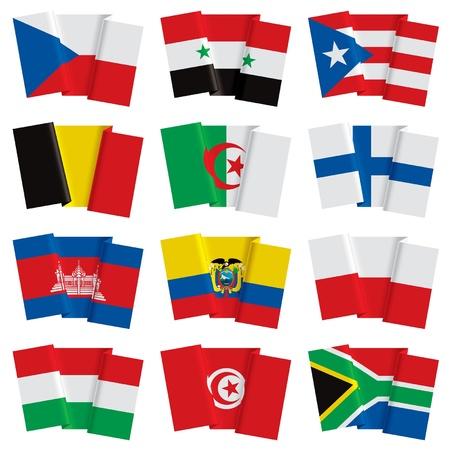 bandera de puerto rico: Vector conjunto de banderas del mundo Vectores