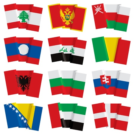 IVector of vector set of world flags Illustration