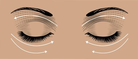 Face massage instruction eyes Ilustracja