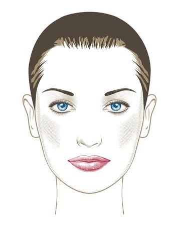 Portrait of a glamorous woman. 일러스트