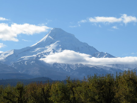 mount hood: Mount Hood, Oregon. A popular recreation destination for year round activities.