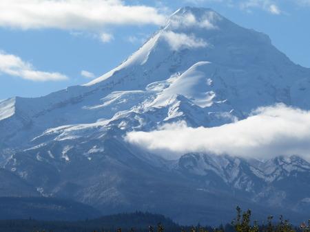 mount hood: Mount Hood, Oregon. Oregons highest peak and a recreation destination year round. Stock Photo