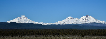 Three Sisters mountains in the Oregon Cascades