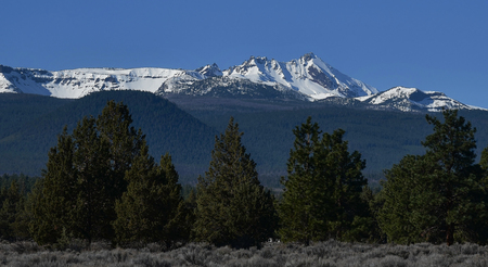 Broken Top Mountain in the Oregon Cascades is situated just south of the Three Sisters peaks.