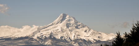 mount hood: Mount Hood, Oregon, is the states highest mountain at approximately 11,232 ft. The mountain and the forests around it provide year round recreational opportunities. This view is from the northeast.