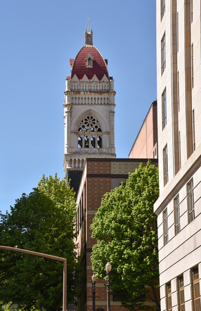A view of the First Congregational Church, Portland Oregon. Established in 1851.
