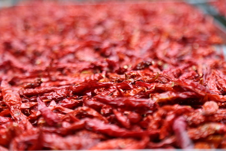 background chilli chilly dry red red hot thaifood vegetable Stock Photo