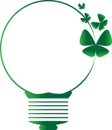 though: Green idea symbol made butterflys vector and illustration design and icon