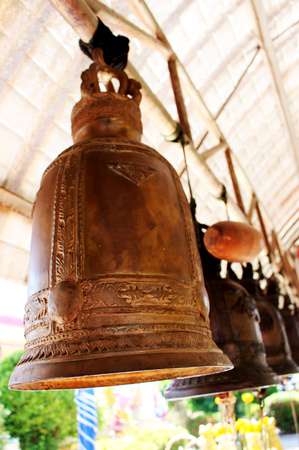 Bell at Temple in Thailand
