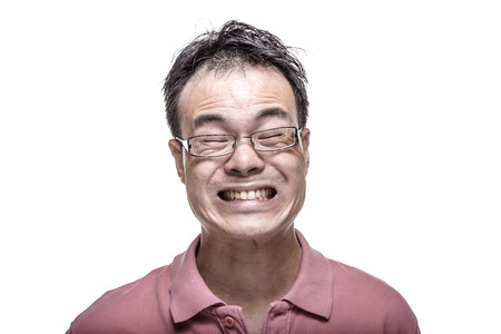 facial expression: Facial expression - Man grinning