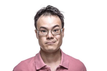gaze: Facial expression - Man with thoughtful gaze Stock Photo