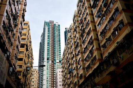low income housing: Hong Kong high density housing apartment