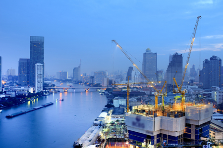 Thailand Landscape : Construction site in Bangkok
