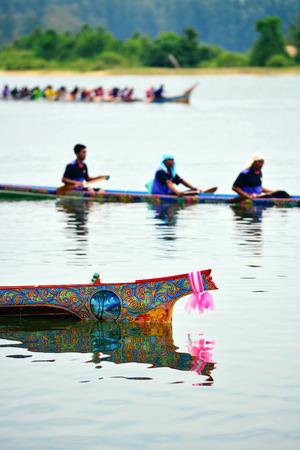 bateau de course: Boat Racing at Narathiwat, Thailand
