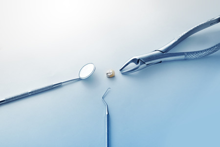 scaler: Health and Medical : Dental Instruments Stock Photo