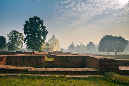 Life of India : The Parinirvana Temple and ancient ruins