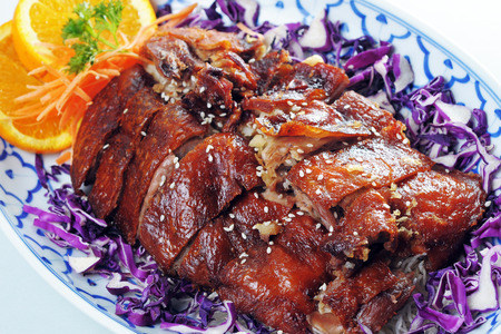 Thai Food : Crispy Skin Duck with plum sauce