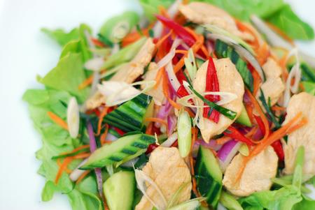 Thai spicy chicken healthy salad