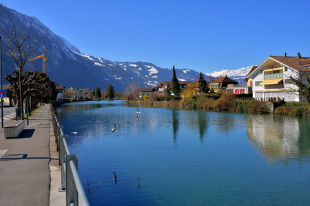 Switzerland Landscape : Aare river of Interlaken