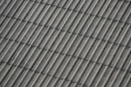 Asbestos roof lining Stock Photo