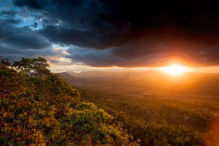 Sunset and storm cloud view from Mt French lookout Stock Photo
