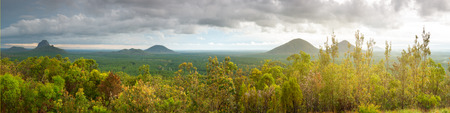 Panoramic view of Glass House Mountain lookout