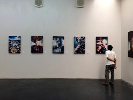 museum visit: Visit museum Stock Photo