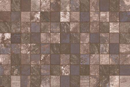 Multicolor vintage ceramic mosaic tiles wall decoration