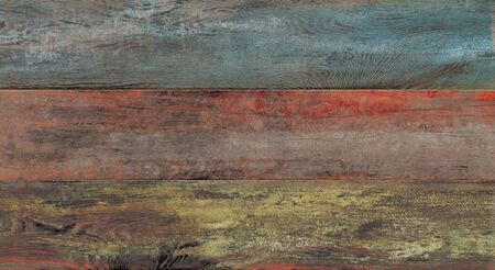 Peeling painted old wooden decor background texture. Imagens