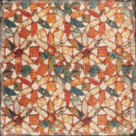 Traditional ornate portuguese decorative azulejos tile, handmade moroccan seamless pattern decorative tile for wall and floor